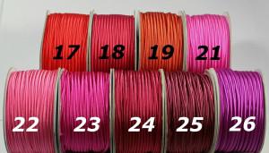 Сутажный шнур Европа глянцевый 3мм цвета №21-26