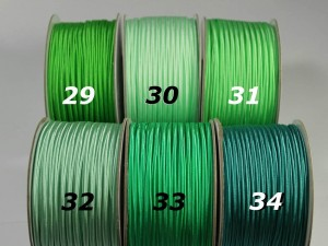 Сутажный шнур Европа глянцевый 3мм цвета №29-34