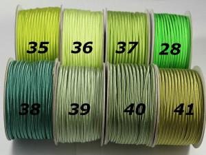 Сутажный шнур Европа глянцевый 3мм цвета №35-41