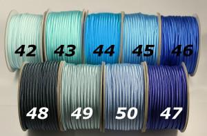Сутажный шнур Европа глянцевый 3мм цвета №42-50