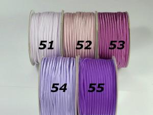 Сутажный шнур Европа глянцевый 3мм цвета №51-55