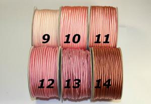 Сутажный шнур Европа глянцевый 3мм цвета №9-14
