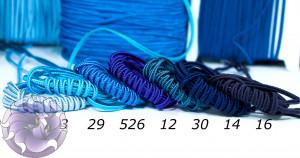 Итальянский сутажный шнур 3мм из синей палитры