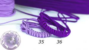 Итальянский сутажный шнур 3мм из Фиолетовой палитры