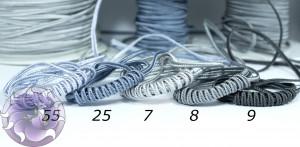 Итальянский сутажный шнур 3мм из Серой палитры