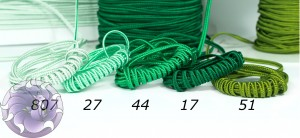 Итальянский сутажный шнур 3мм из Зелёной палитры