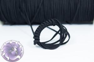 Итальянский сутажный шнур 3мм Черный