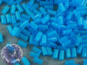 Стеклярус TOHO bugle #1 3мм Transparent-Frosted Dk Aquamarine