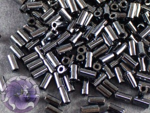Стеклярус TOHO bugle #1 3мм Metallic Hematite. Поменять фото
