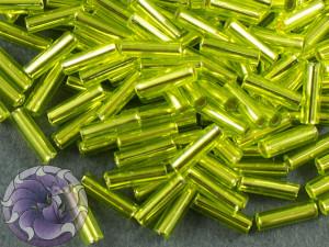 Стеклярус TOHO bugle #2 6мм Lime Green