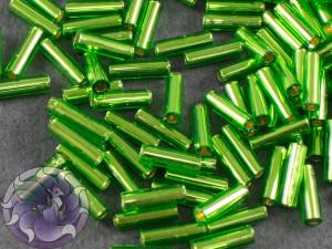 Стеклярус TOHO bugle #2 6мм Silver-Lined Peridot