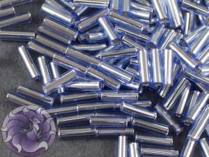Стеклярус TOHO bugle #2 6мм Silver-Lined Lt Sapphire