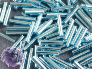 Стеклярус TOHO bugle #3 9мм Silver-Lined Aquamarine