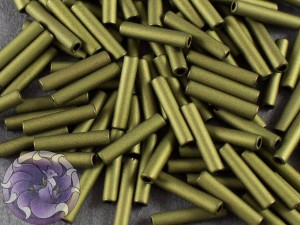 Стеклярус TOHO bugle #3 9мм Matte-Color Dk Olive