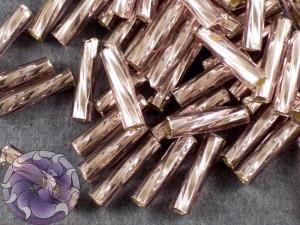 Стеклярус TOHO Twisted Bugle #3 9мм Silver-Lined Lt Amethyst