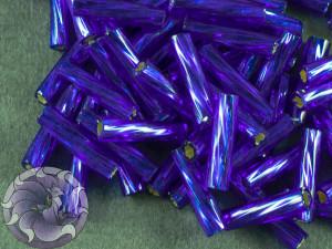 Стеклярус TOHO Twisted Bugle #3 9мм Silver-Lined Cobalt