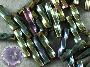 Стеклярус TOHO Twisted Bugle #3 9мм Green/Brown