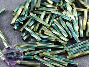 Стеклярус витой 2*12мм Miyuki Matte Metallic Patina Iris