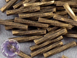 Стеклярус витой 2*12мм Miyuki Gold Antiqued Matte Black