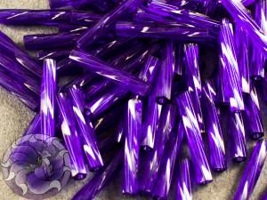 Стеклярус витой 2*12мм Miyuki Transparent Cobalt AB