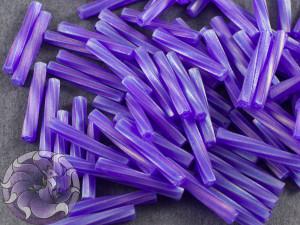Стеклярус витой 2*12мм Miyuki Matte Transparent Cobalt AB