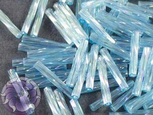 Стеклярус витой 2*12мм Miyuki Transparent Aqua AB