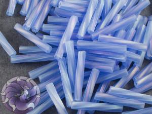 Стеклярус витой 2*12мм Miyuki Matte Transparent Sapphire AB