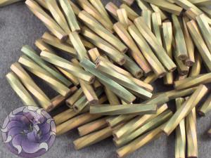Стеклярус витой 2*12мм Miyuki Matte Metallic Khaki Iris