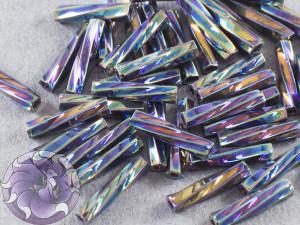 Стеклярус витой 2.7*12мм Miyuki Metallic Variegated Blue Iris