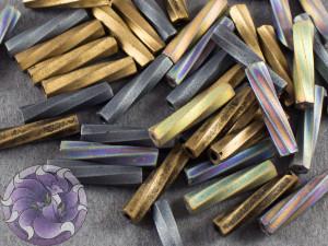 Стеклярус витой 2.7*12мм Miyuki Микс Flat Iron