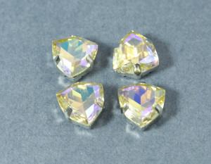 Кристалл форма Триллион 12мм, цвет Paradise Shine, оправа серебро