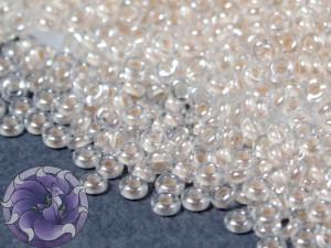 Бисер 5г TOHO- Demi Round 11/0 2.2мм Inside-Color Crystal, Blush-Lined