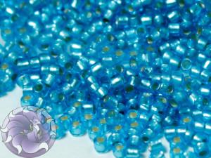 5г Бисер TOHO круглый 15/0 Silver-Lined Frosted Dk Aqua