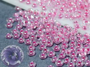 Бисер 5г TOHO- Demi Round 11/0 2.2мм Inside-Color Crystal, Baby Pink-Lined