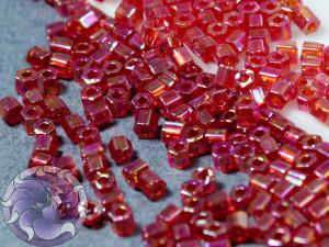 Бисер 5г TOHO- Hexagon 11/0 Transparent-Rainbow Siam Ruby