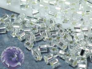Бисер 5г TOHO- Hexagon 11/0 Silver-Lined Crystal