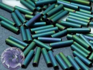 Стеклярус TOHO bugle #3 9мм Matte Color Iris - Teal