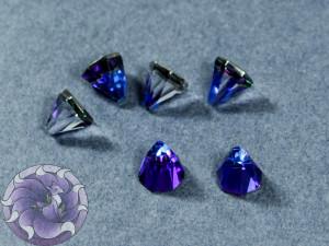 Кристалл пирамидка 6мм семиугольник Цвет Bermuda Blue