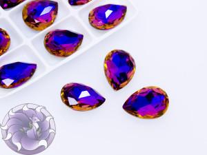 Кристалл Капля 18х13мм стекло к9 цвет Violet Blue