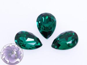Кристалл стекло К9 Капля 25х18мм цвет Emerald