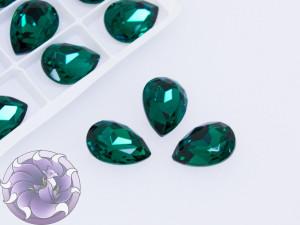 Кристаллы стекло К9 Капля 14х10мм цвет Emerald