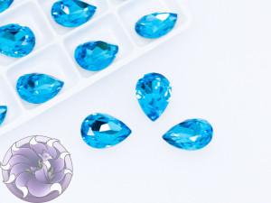 Кристаллы стекло К9 Капля 14х10мм цвет Aquamarine