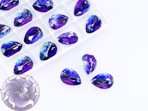 Кристалл лазер двухцветный 14*10мм капля цвет tanzanite