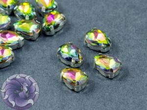 Кристалл в серебряной оправе Капля 10x8мм Volcano