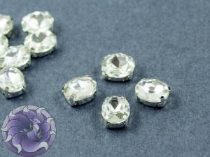 Кристалл в серебряной оправе Овал 10x8мм Crystal