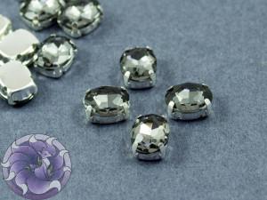 Кристалл в серебряной оправе Овал 10x8мм Black Diamond