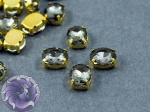 Кристалл в золотой оправе Овал 10x8мм Black Diamons