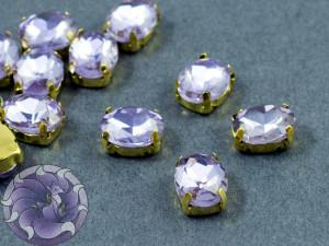 Кристалл в золотой оправе Овал 10x8мм Violet