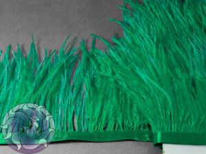 Лента из перьев страуса 8-10см цвет Травянисто зеленый
