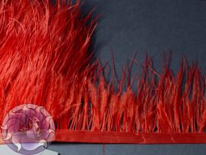 Лента из перьев страуса 8-10см цвет Светло красный